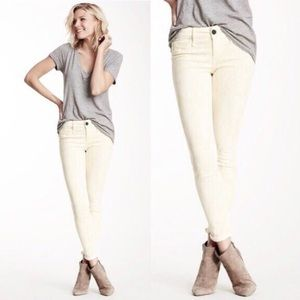 New Eileen Fisher Pale Yellow Stretch Skinny Jeans